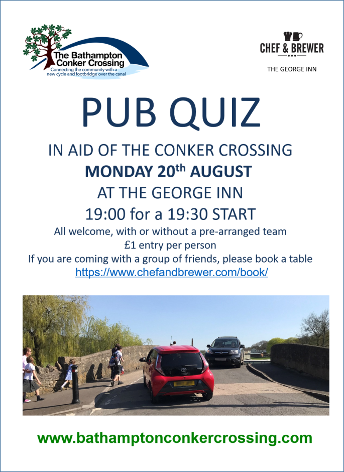 Conker Crossing Pub Quiz at George Pub New Date 20th August
